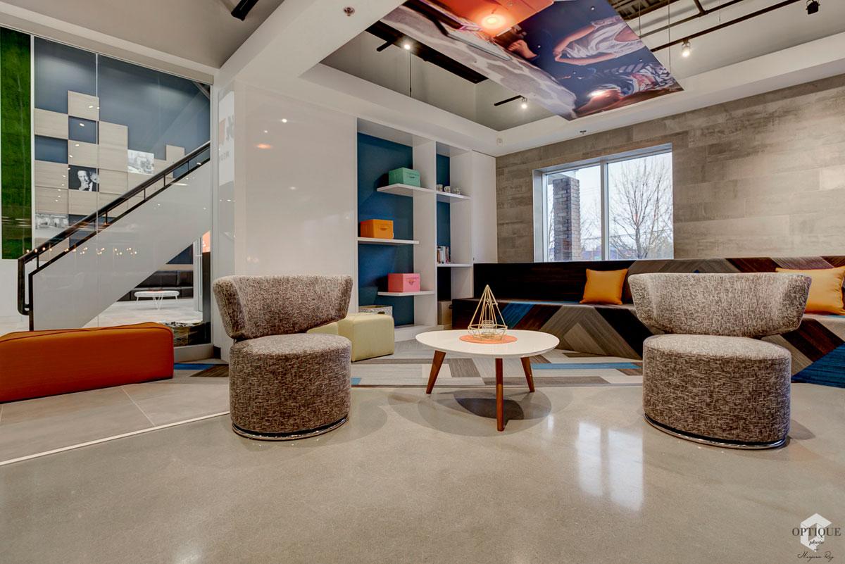Architecture intérieur salon entreprise