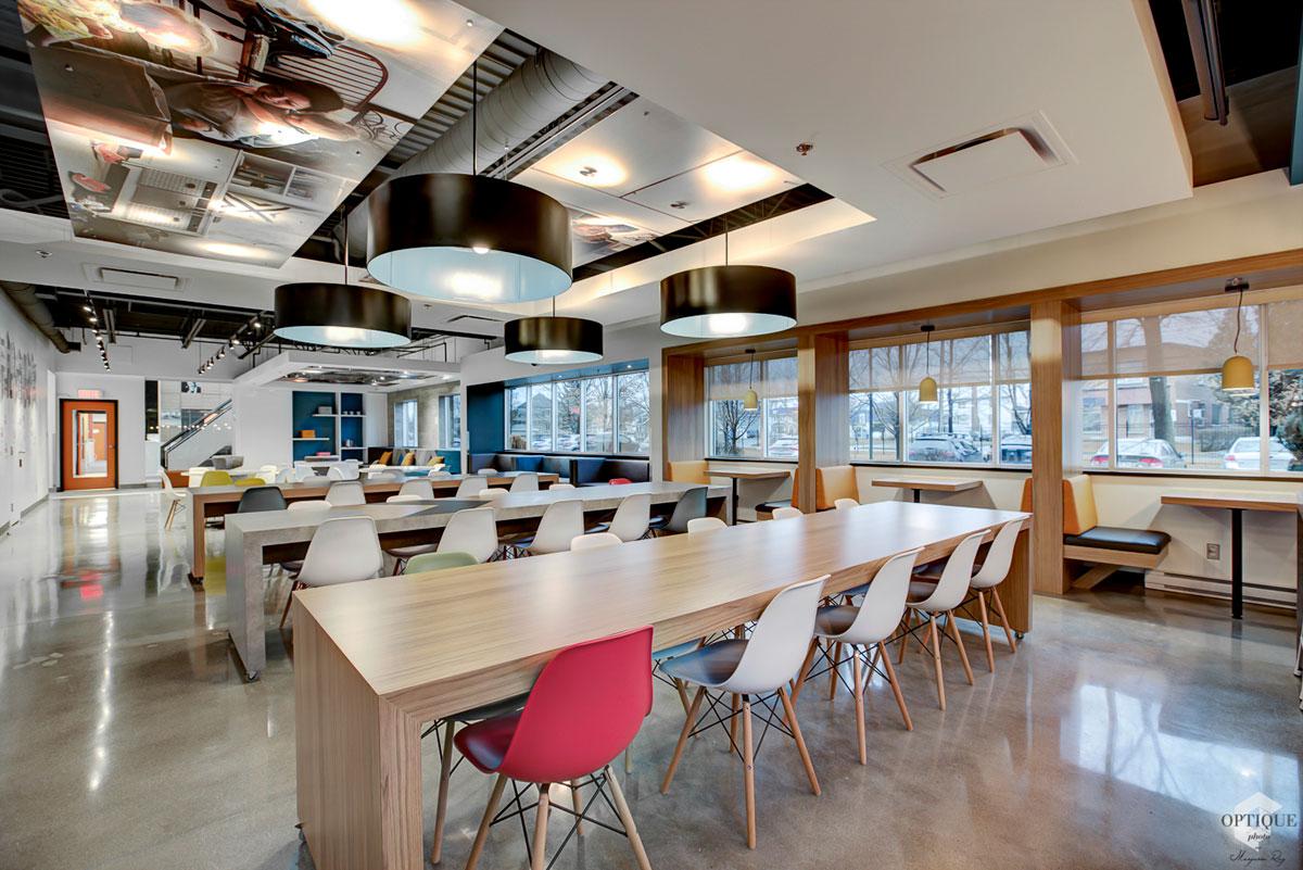 Designer intérieur cafétéria et salle de pause