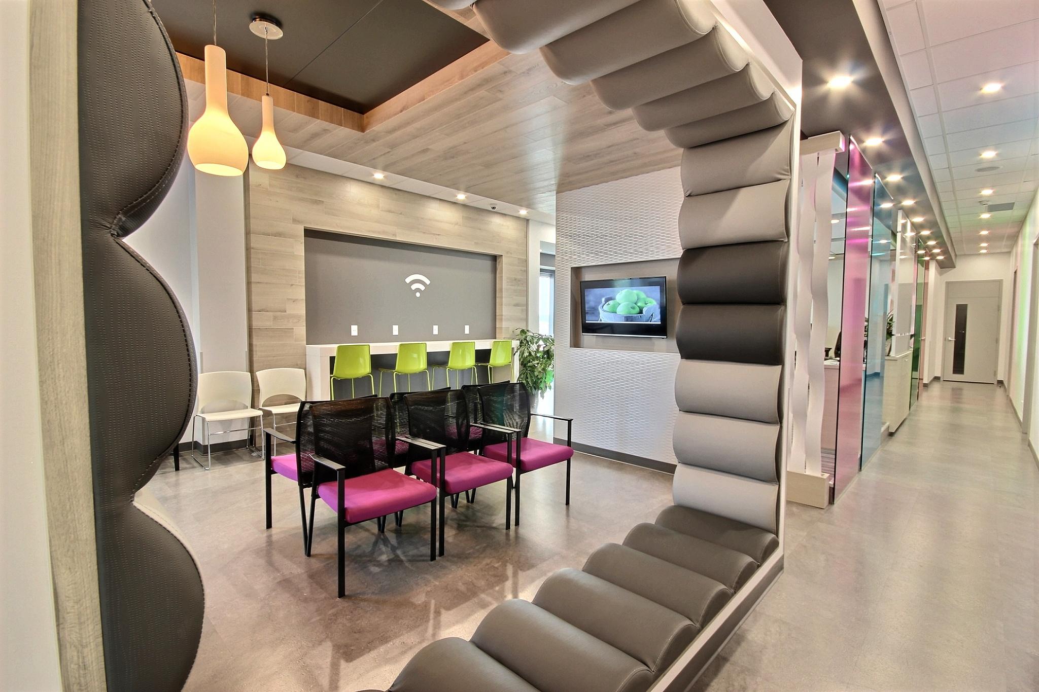 Design intérieur salle d'attente Québec