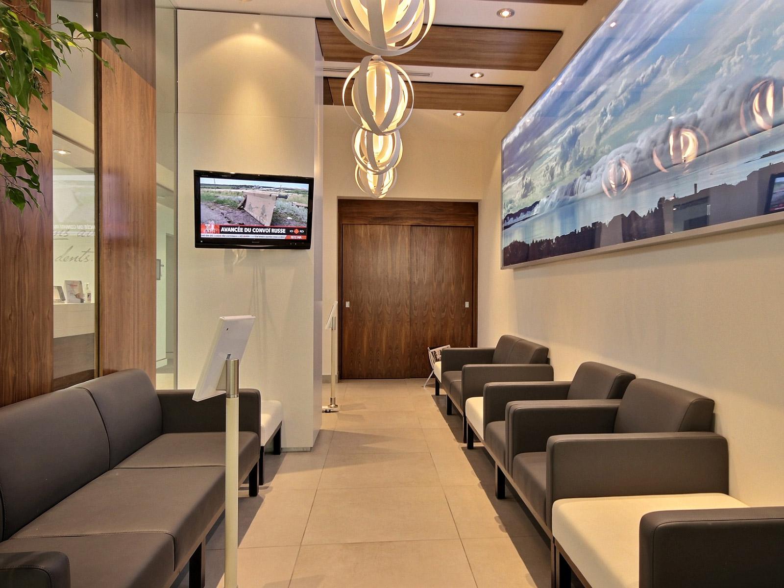 Design intérieur salle d'attente