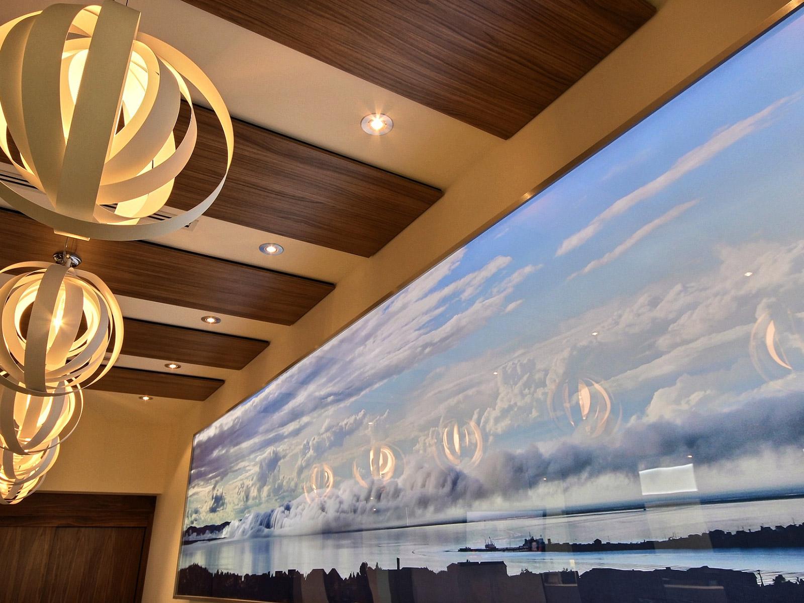 Décoration et luminaire salle d'attente dentiste