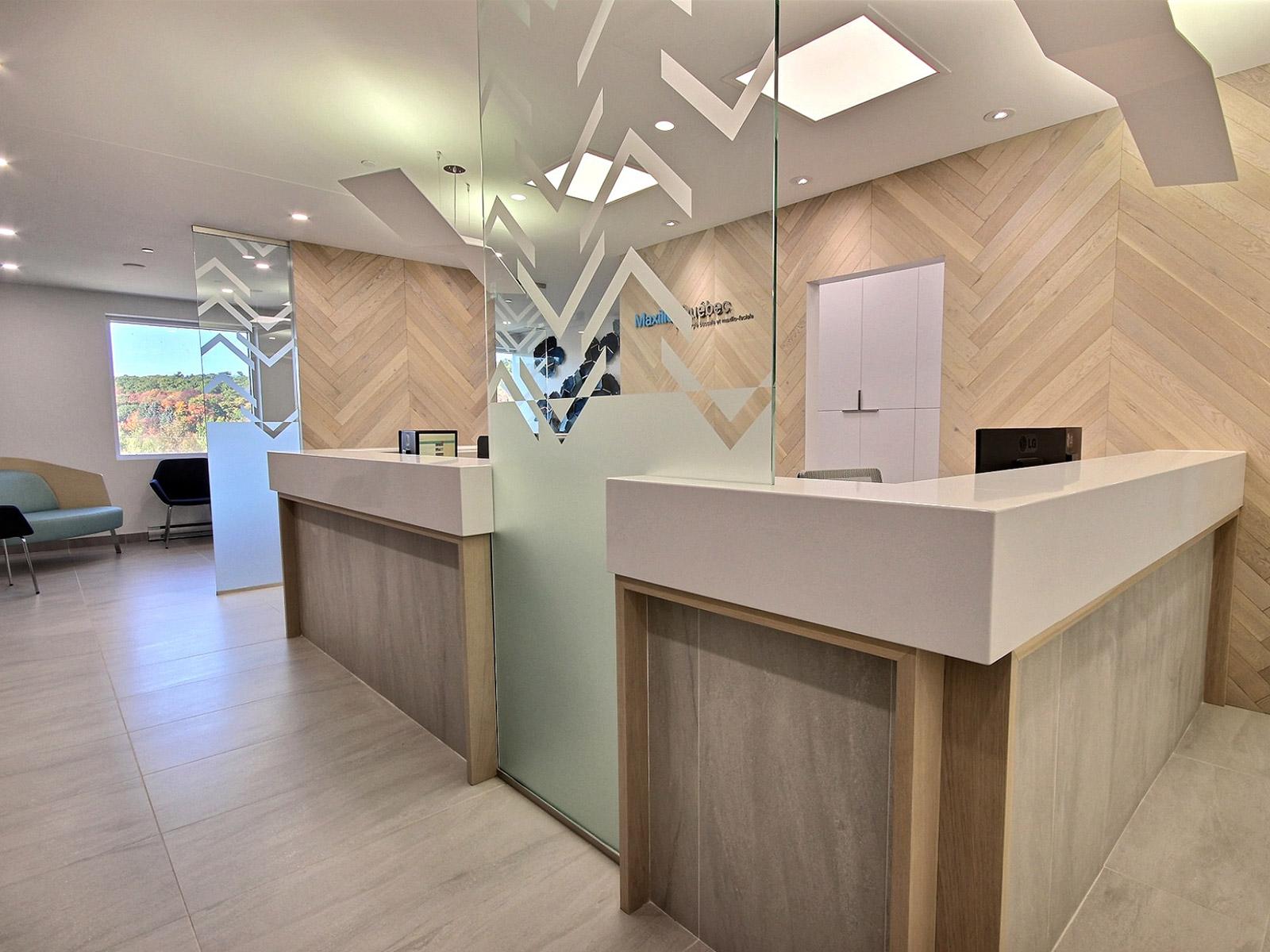 Design intérieur clinique dentaire lévis