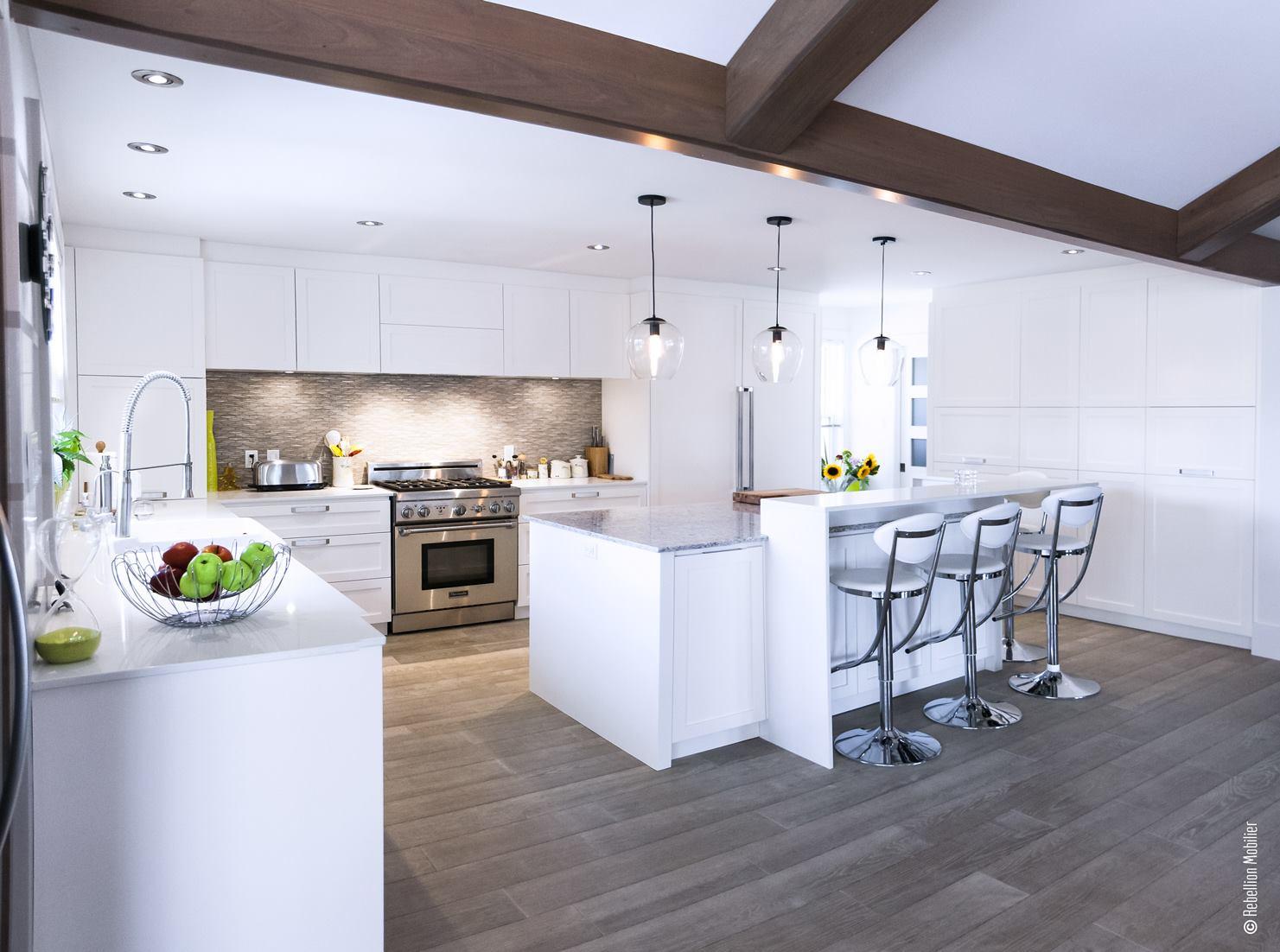 Designer cuisine blanche Québec