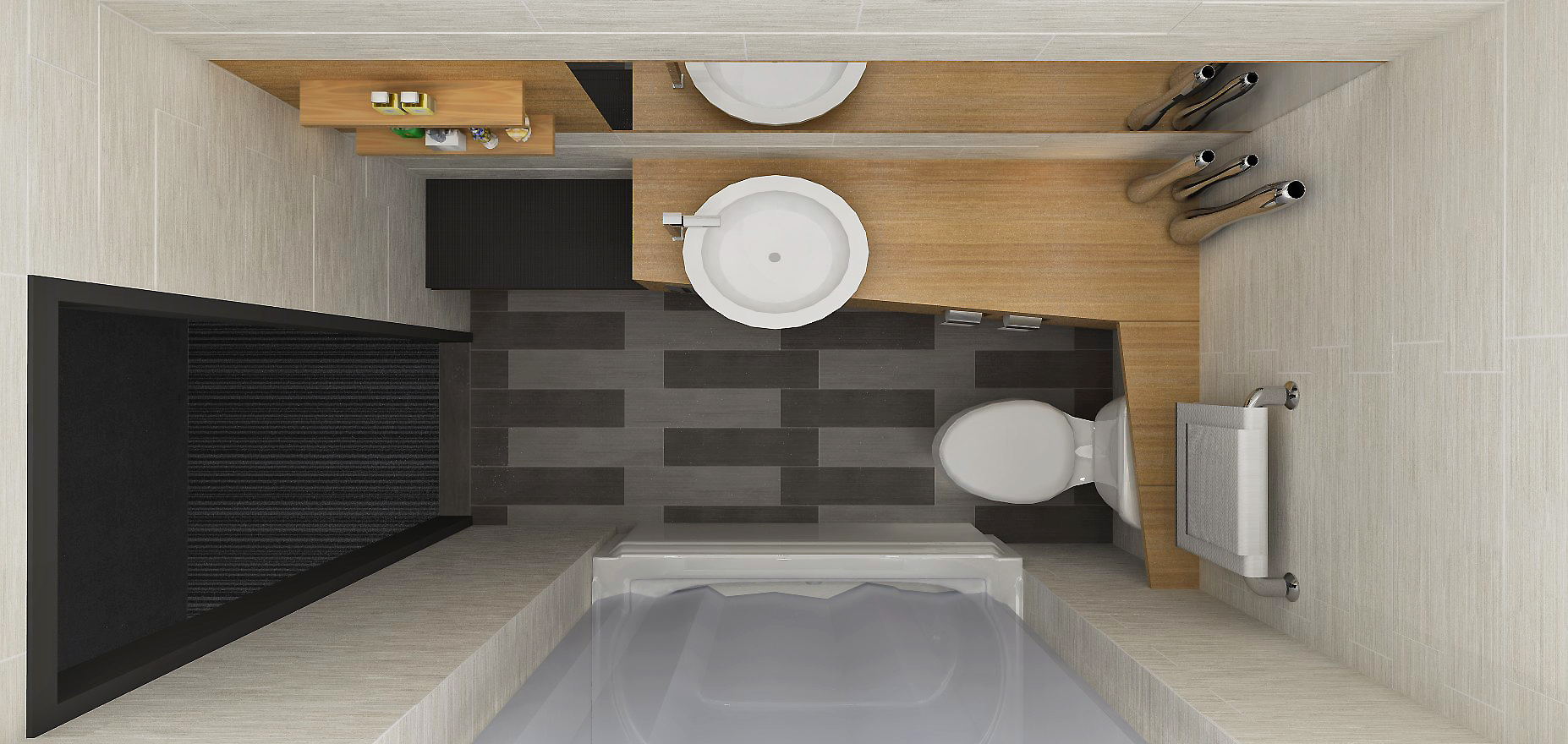 Salle de bain design intérieur hotel