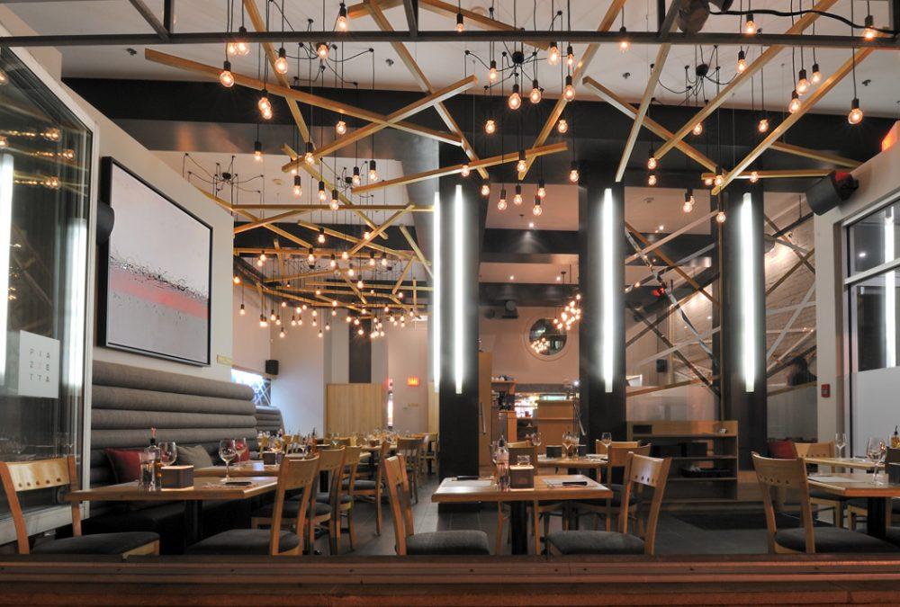 Designer d'intérieur de salle de restaurant Piazzetta St-Joseph