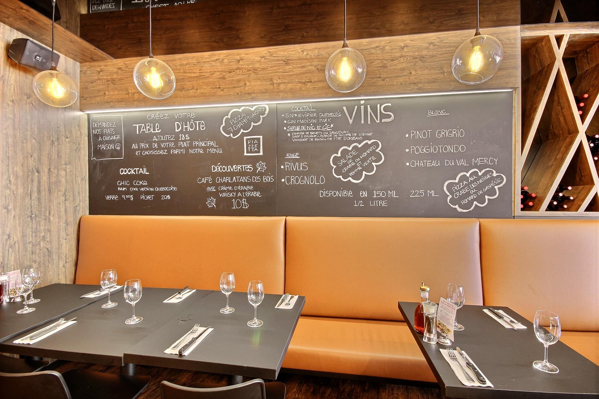 Designer Québec salle restaurant Piazzetta du vieux-port