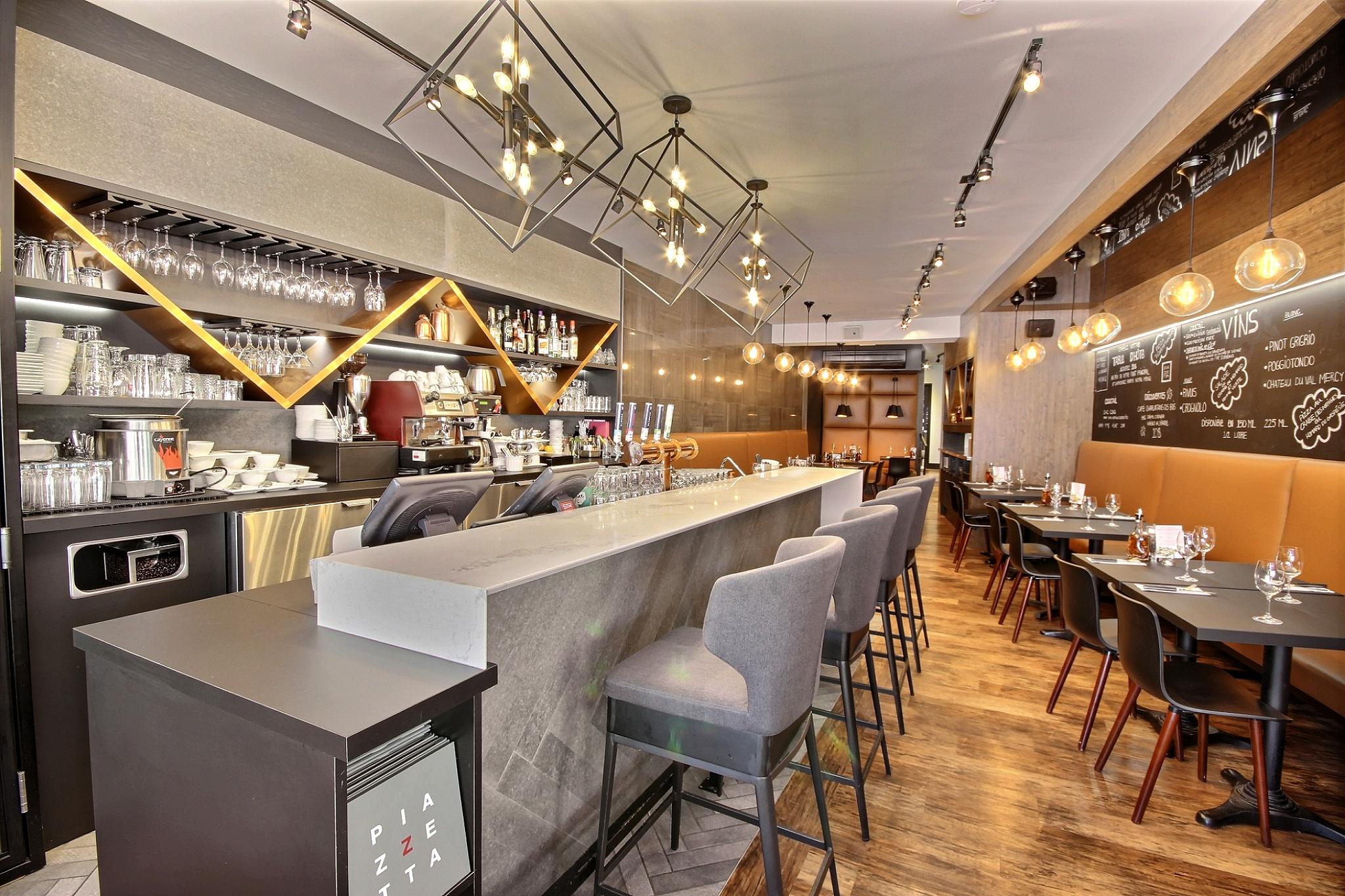 Design intérieur bar Piazzetta du vieux-port