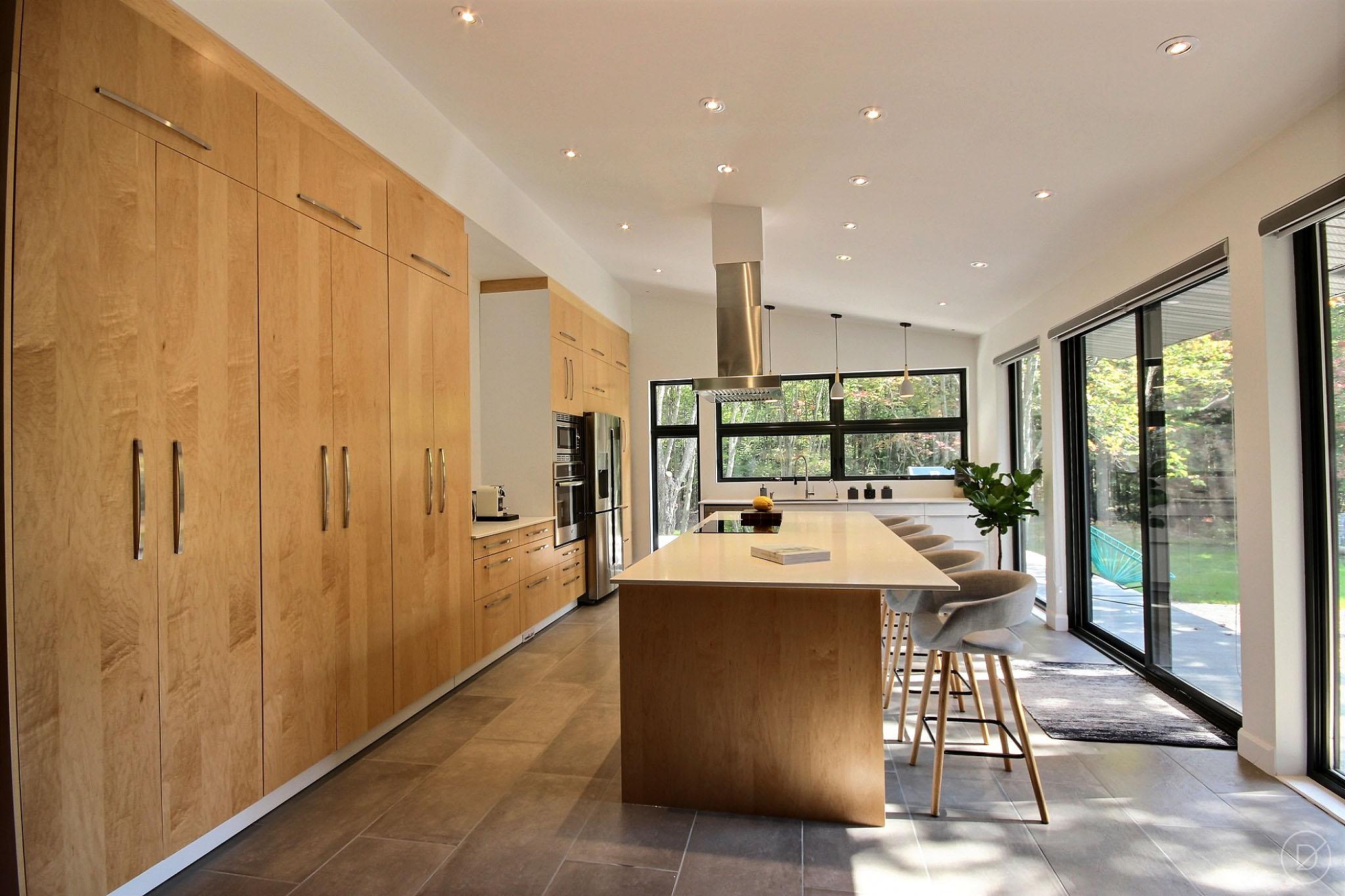Design intérieur cuisine bois québec