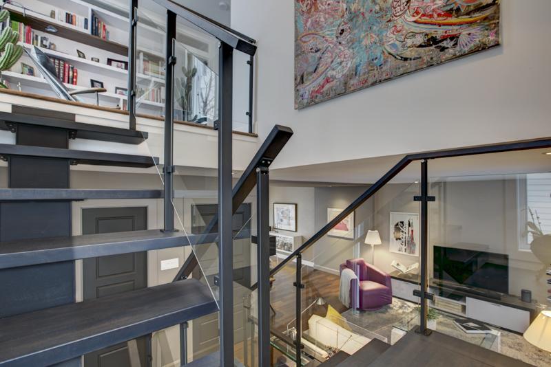 Escalier verre design québec
