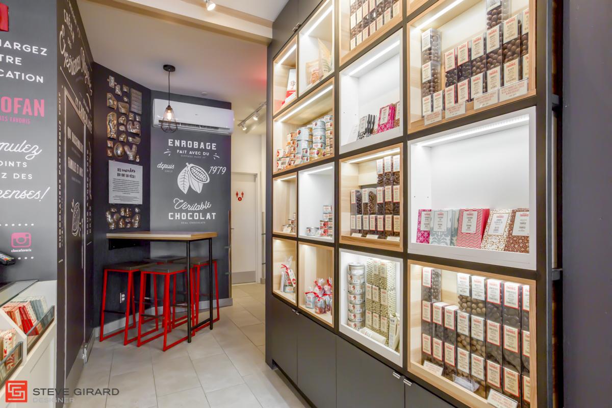 Design intérieur magasin québec