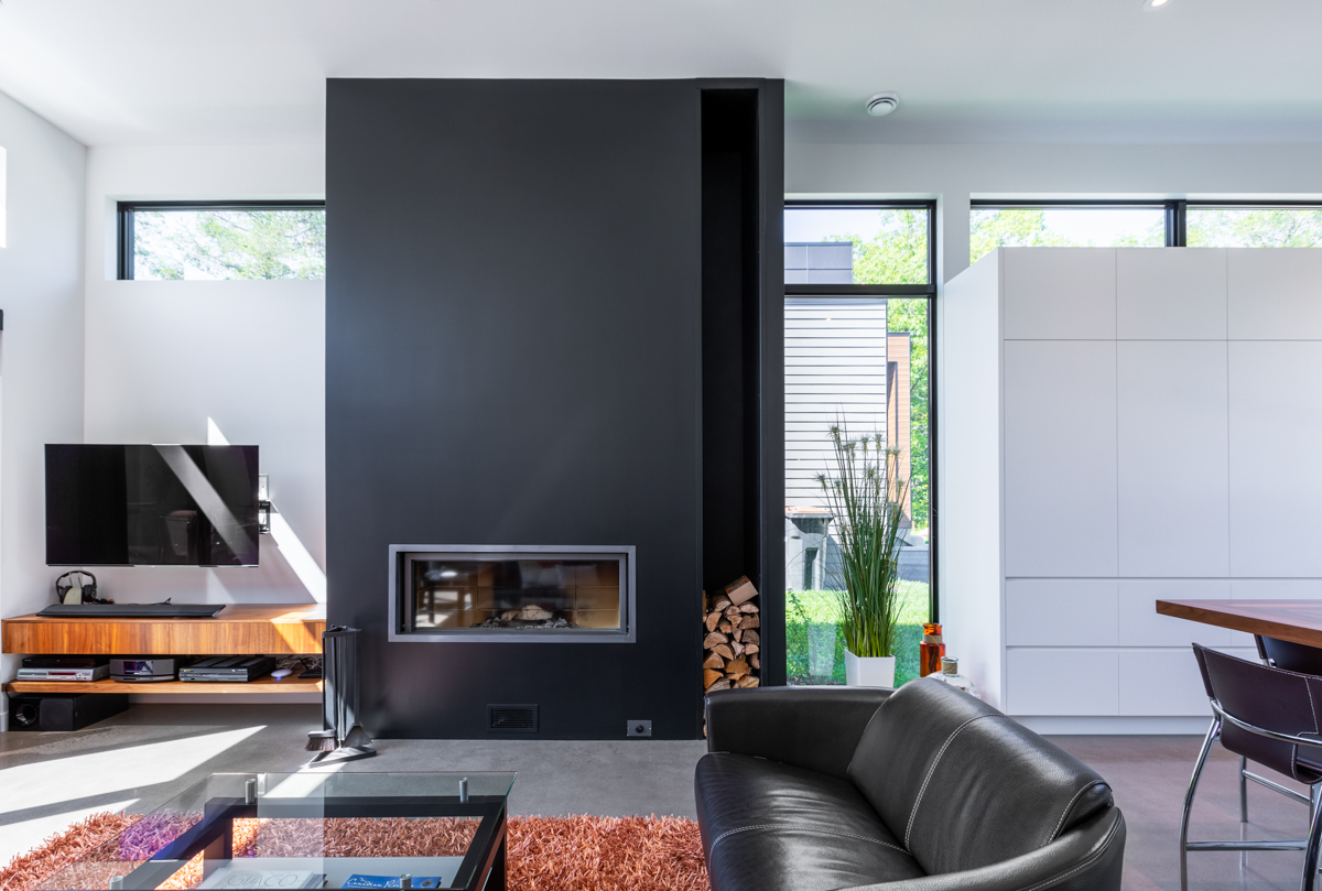 Design d'intérieur salon moderne québec